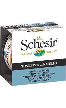 Schesir Cat Atum com Pescada em Gelatina | Wet (Lata)