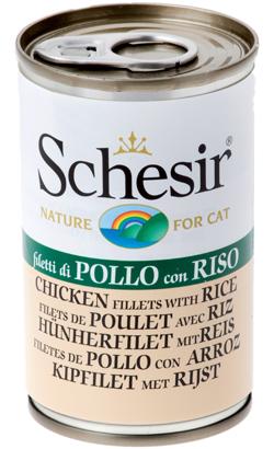 Schesir Cat Filete de Frango com Arroz em Geleia   Wet (Lata)