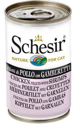 Schesir Cat Filete de Frango com Gambas em Gelatina | Wet (Lata)