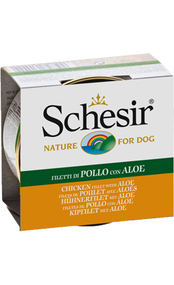 Schesir Dog Filete de Frango com Aloe em Gelatina | Wet (Lata)