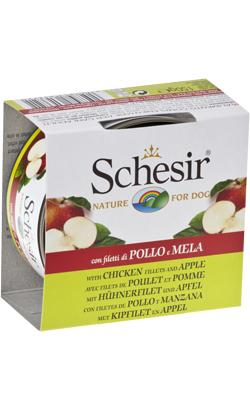 Schesir Dog Filete de Frango com Maça em Gelatina | Wet (Lata)