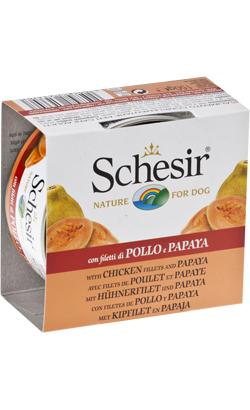 Schesir Dog Filete de Frango com Papaia em Gelatina | Wet (Lata)