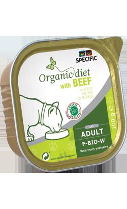 Specific Cat F-BIO-W Organic Beef | Wet (Terrina)