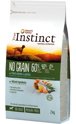True Instinct Dog Adult No Grain Medium-Maxi Salmon & Potato