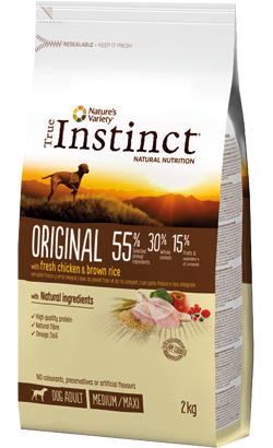 True Instinct Dog Adult Original Medium-Maxi Chicken & Brown Rice