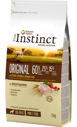 True Instinct Dog Adult Original Mini Chicken & Brown Rice