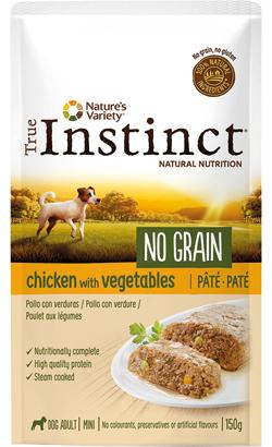 True Instinct Dog Mini Adult No Grain Pate Chicken & Vegetables   Wet (Saqueta)