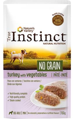 True Instinct Dog Mini Adult No Grain Pate Turkey & Vegetables | Wet (Saqueta)